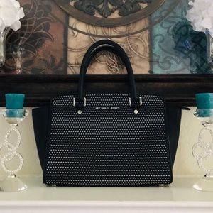 MK Micro Studded Saffiano Selma Bag